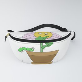 Confused flower in flowerpot design Fanny Pack
