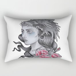 WARRIOR WOMAN Rectangular Pillow