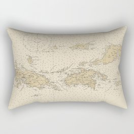 Vintage Map of The Virgin Islands (1921) Rectangular Pillow