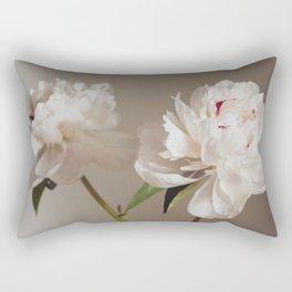 Twin peonies (natural) Rectangular Pillow
