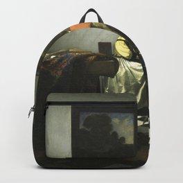 Stolen Art - The Concert by Johannes Vermeer Backpack