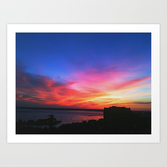 Granular Sunset Art Print