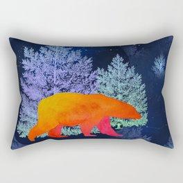 Midnight Moon Bear - Technicolour Safari, Polar bear Rectangular Pillow