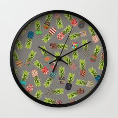 Crazy Pineapple Party Wall Clock