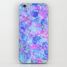 TIME FOR BUBBLY, AGAIN - Pastel Turquoise Baby Blue Purple Pink Feminine Bubbles Abstract Painting iPhone & iPod Skin
