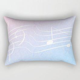 Pastel Notes Rectangular Pillow