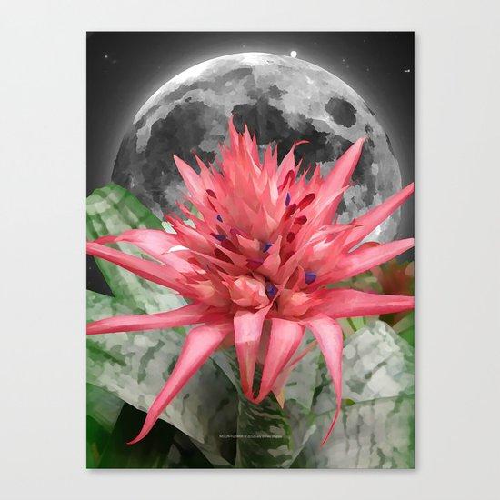 MOON - FLOWER 009 Canvas Print