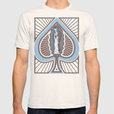 Our Lady of Spades Mens Fitted Tee Natural MEDIUM