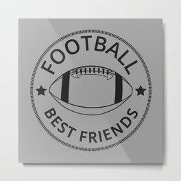 American Football Best Friends I Metal Print
