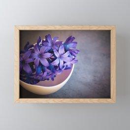 Hyacinth Flower Blue Framed Mini Art Print