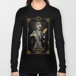 The Reader X Tarot Card Long Sleeve T-shirt