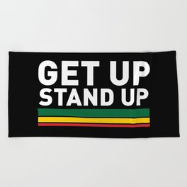 Get Up Stand Up / Rasta Vibrations Beach Towel