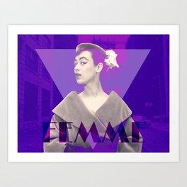 Femme Violette Art Print