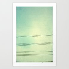 Horizontal Lines in the air Art Print