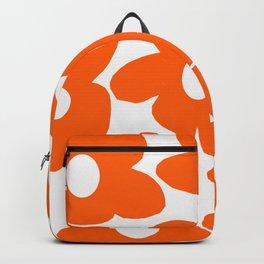 Orange Retro Flowers White Background #decor #society6 #buyart Backpack