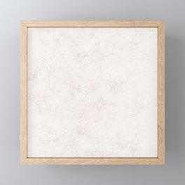 Elegant vintage ivory white stylish marble Framed Mini Art Print