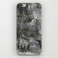 alphabet iPhone & iPod Skins featuring Alphabet by cafelab
