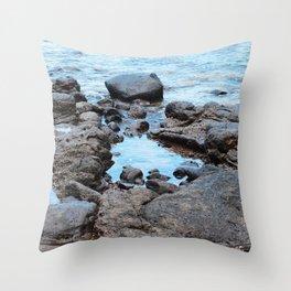 Fantasy Secret Cove By Magical Blue Ocean Throw Pillow