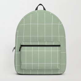 Long Grid Green Backpack