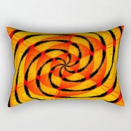 Vibrant tigerlike abstract Rectangular Pillow