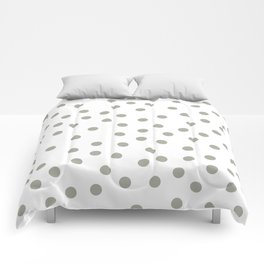 Simply Dots in Retro Gray on White Comforters
