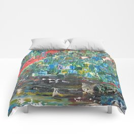 Feu de forêt Comforters