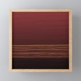 Horizon (red) Framed Mini Art Print