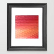 Fig. 044 Coral, Pink & Peach Geometric Diagonal Stripes Framed Art Print