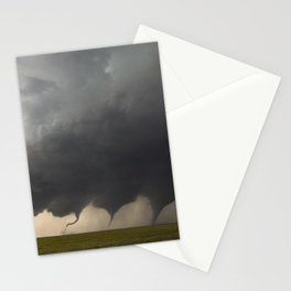 Time-Lapse Photography of the Evolution of a Tornado color photograph by Jason Weingart Stationery Cards