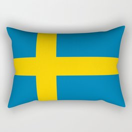 Flag of Sweden - Authentic (High Quality Image) Rectangular Pillow
