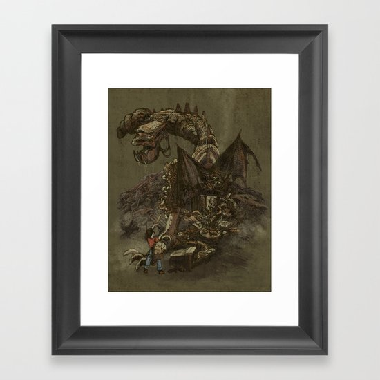 Junkyard Dragon  Framed Art Print