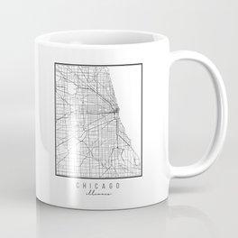 Chicago Illinois Street Map Coffee Mug
