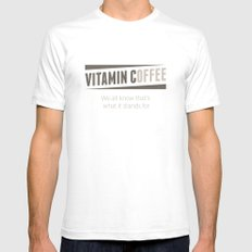 Vitamin C(offee) Mens Fitted Tee White SMALL