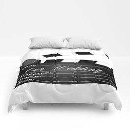 Our Wedding Clapperboard Comforters