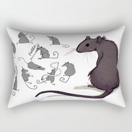 Feeling Ratty Rectangular Pillow