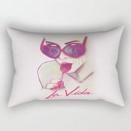 La Vida Rectangular Pillow