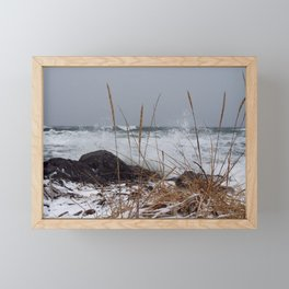 Winter Surf From a Frozen Sea Framed Mini Art Print