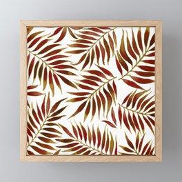 FOLIAGE WATERCOLOR - RED Framed Mini Art Print