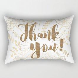 Thank You! Series 02 - Doodle & Typography Rectangular Pillow