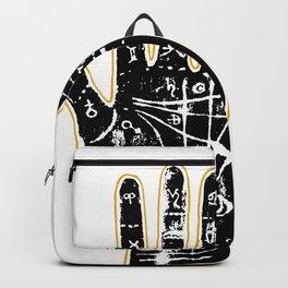 Black palmistry hand Backpack