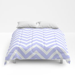 Periwinkle Blue Chevron Stripes Comforters