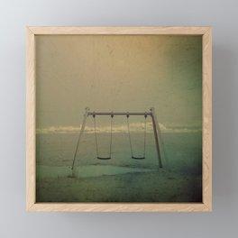 Forgotten swings Framed Mini Art Print