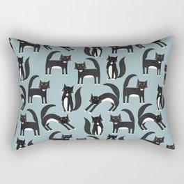 Black and White Cats Rectangular Pillow
