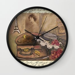 gentle lady's hat Wall Clock