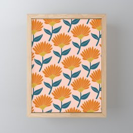 Floral_pattern Framed Mini Art Print