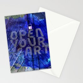 open your heart Stationery Cards
