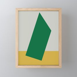 Abstract #10 Green Grey Yellow Framed Mini Art Print