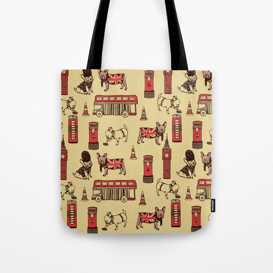 London Frenchies Tote Bag