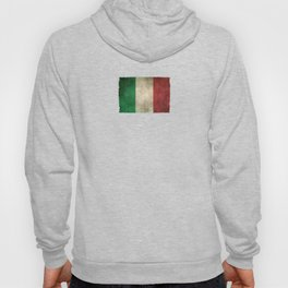 Old and Worn Distressed Vintage Flag of Italy Hoody