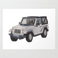 Jeep Wrangler 2012 Art Print